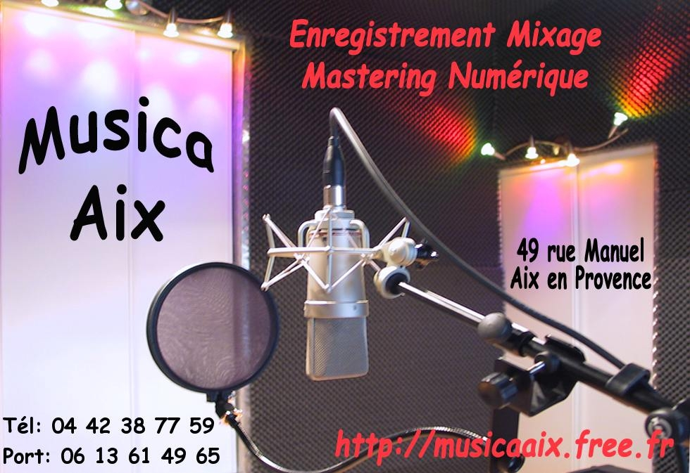 MUSICA AIX Studio d'enregistrement